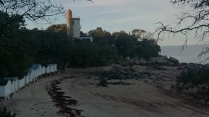 En Hiver : Phare de l'Anse rouge à Noirmoutier
