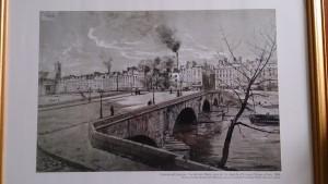 Emmanuel Lansyer, Vue du pont Marie,prise du 1er étage du n°41 quai d'Anjou à Paris,1886